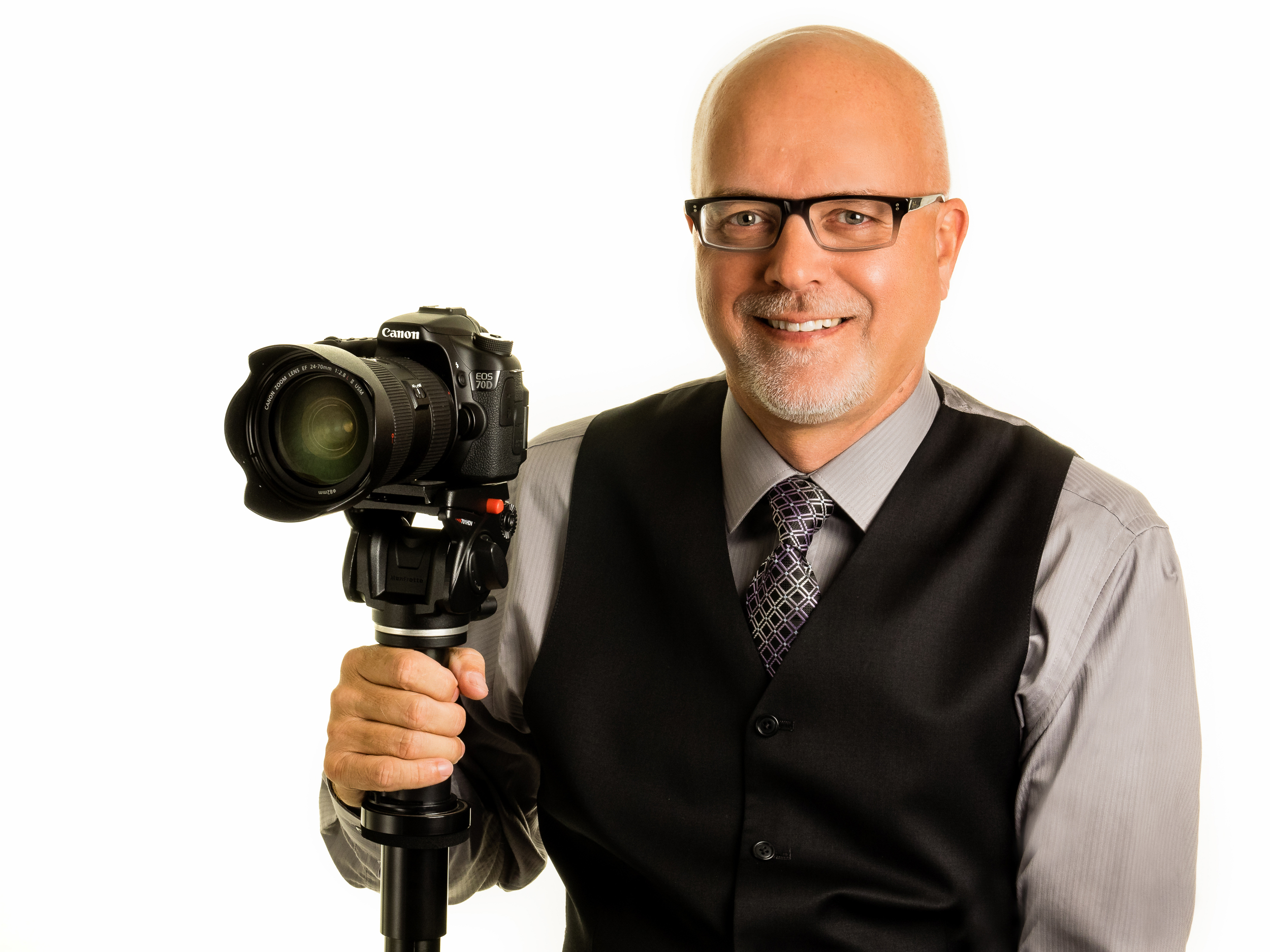 Publicity photo for a pro videographer.