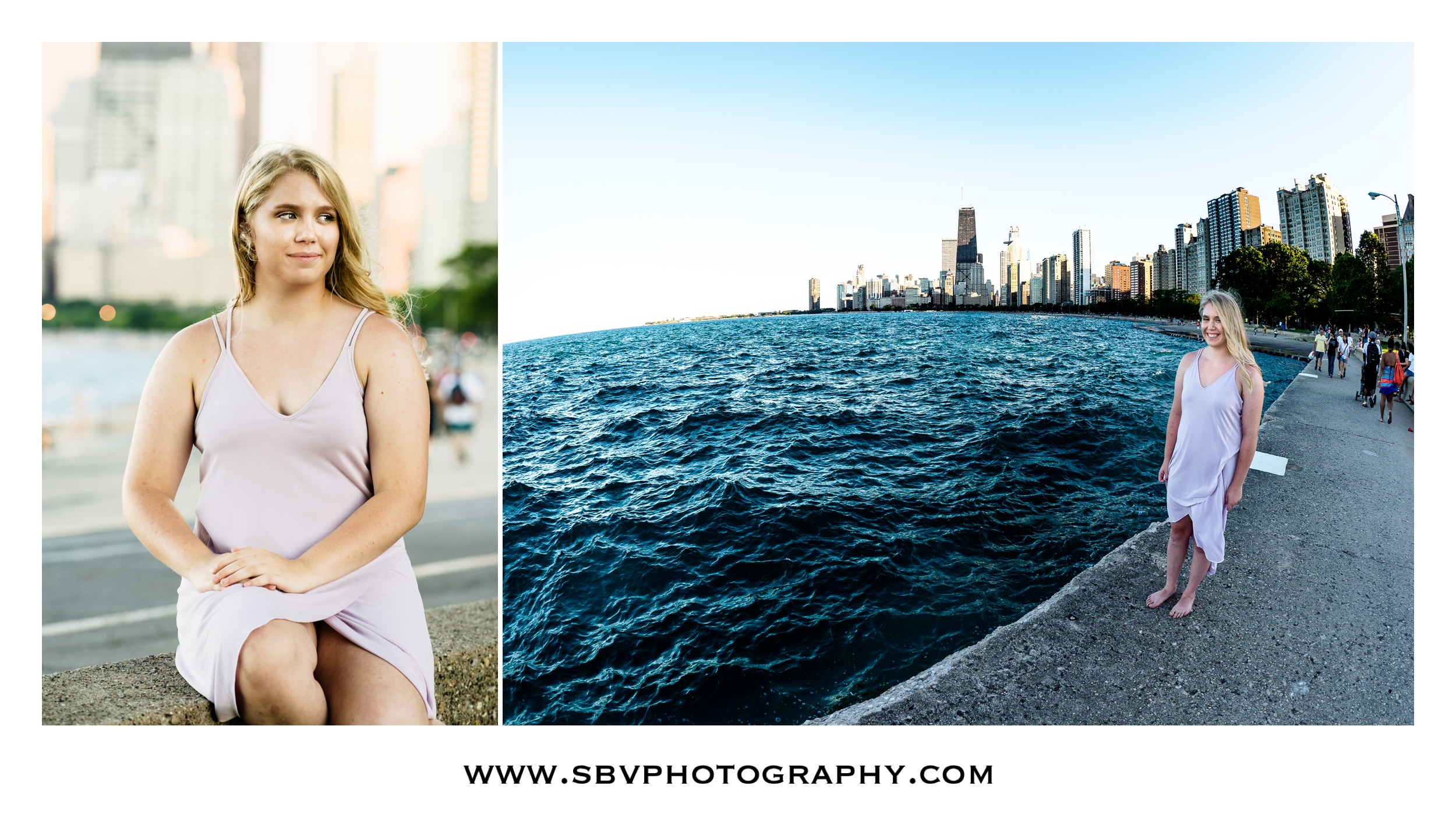 Senior pictures on Lake Michigan in Chicago.