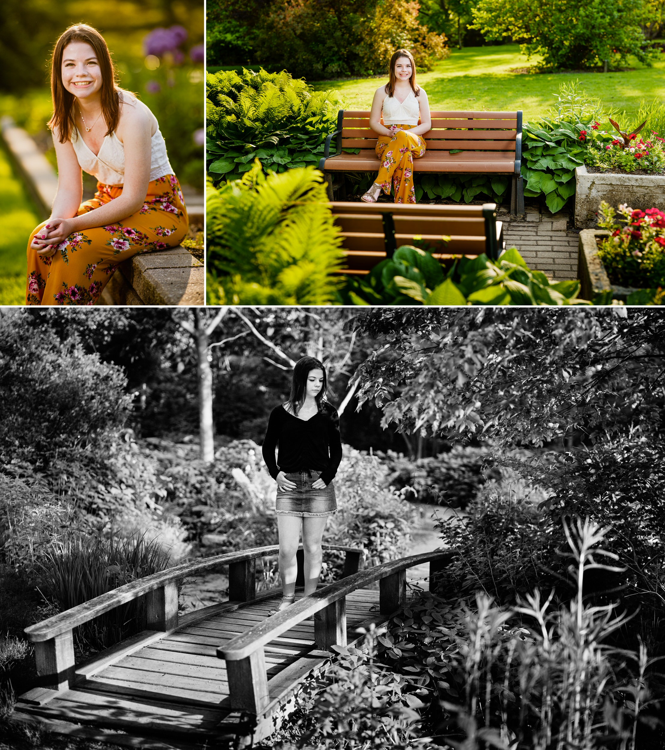 Senior photos at Ogden Garden.