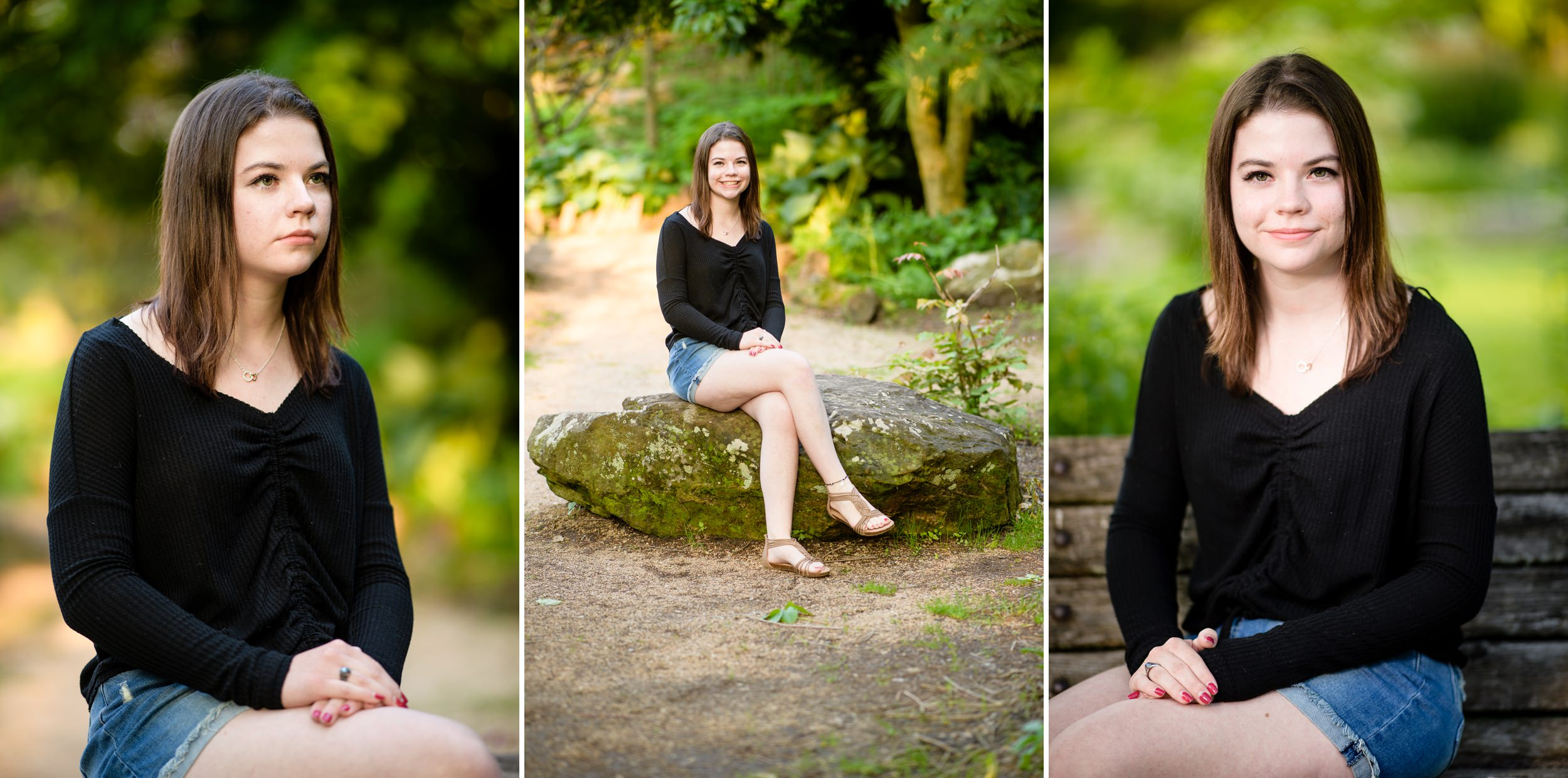Senior girl portraits with a nature theme.