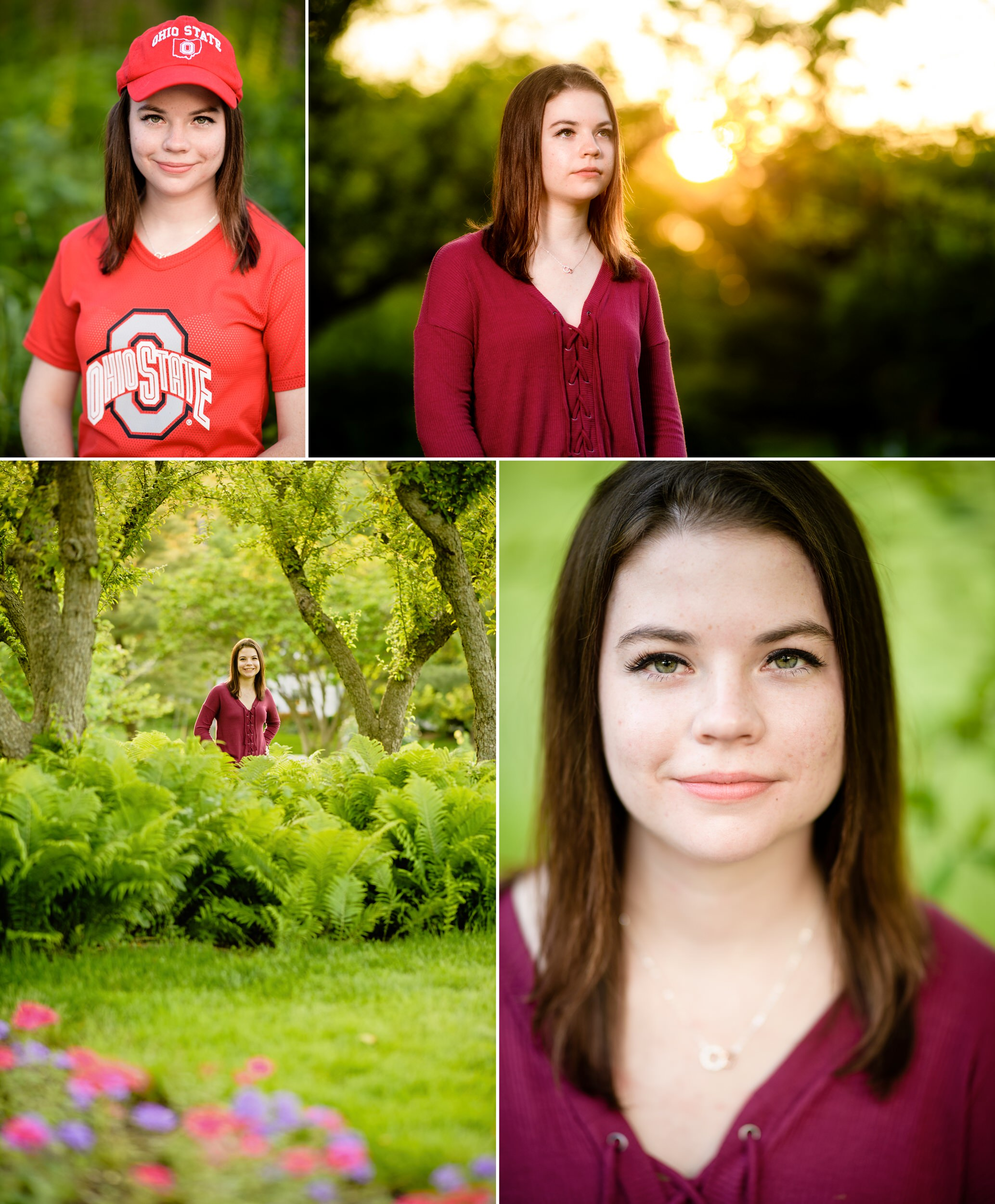 Senior photos at the beautiful Ogden Garden.