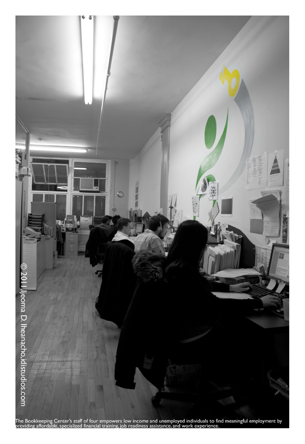 Faces of the Great Recession Series: The Bookkeeping Center - An Intimate Setting