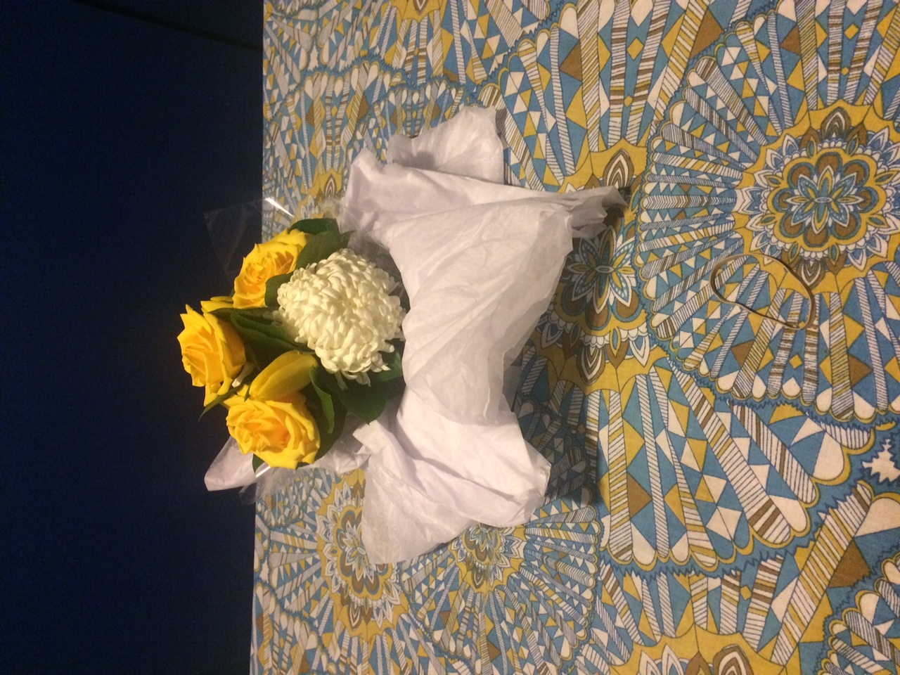 Thanks for the flowers Brian and Andy!