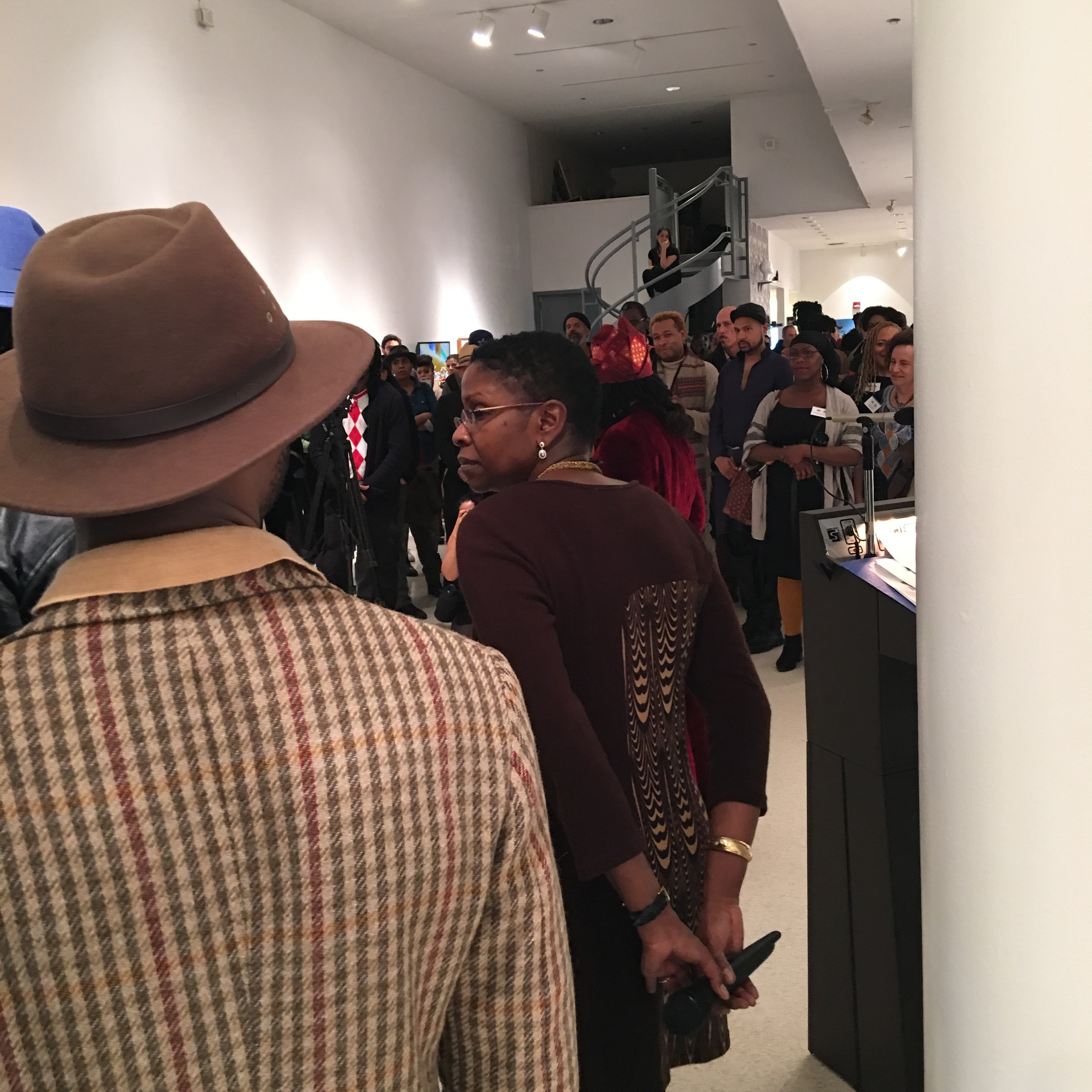 The gallery was packed with art lovers and well wishers!