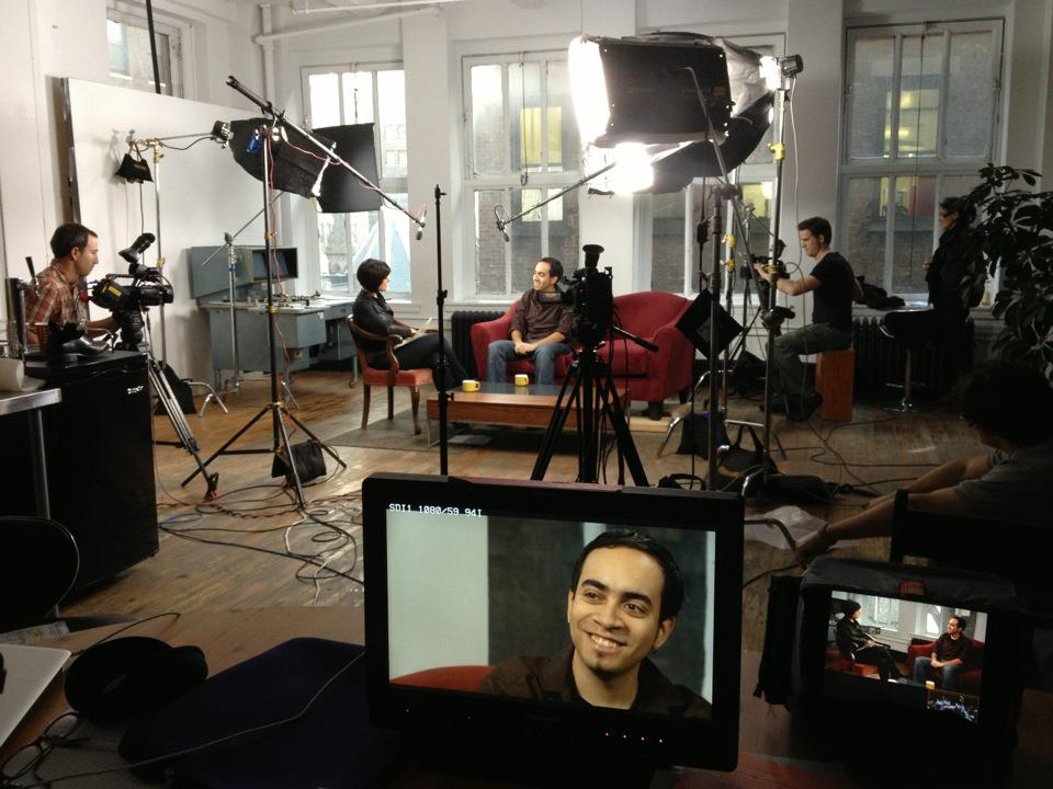 William D. Caballero being interviewed for the 2012 airing of  AMERICAN DREAMS DEFERRED  as part of the program AMERICA REFRAMED on PBS.