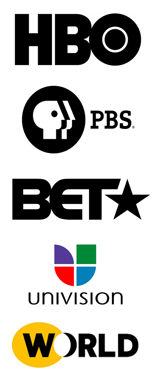 A few of the networks that have hired Caballero to create, produce, and edit digital web-series projects.