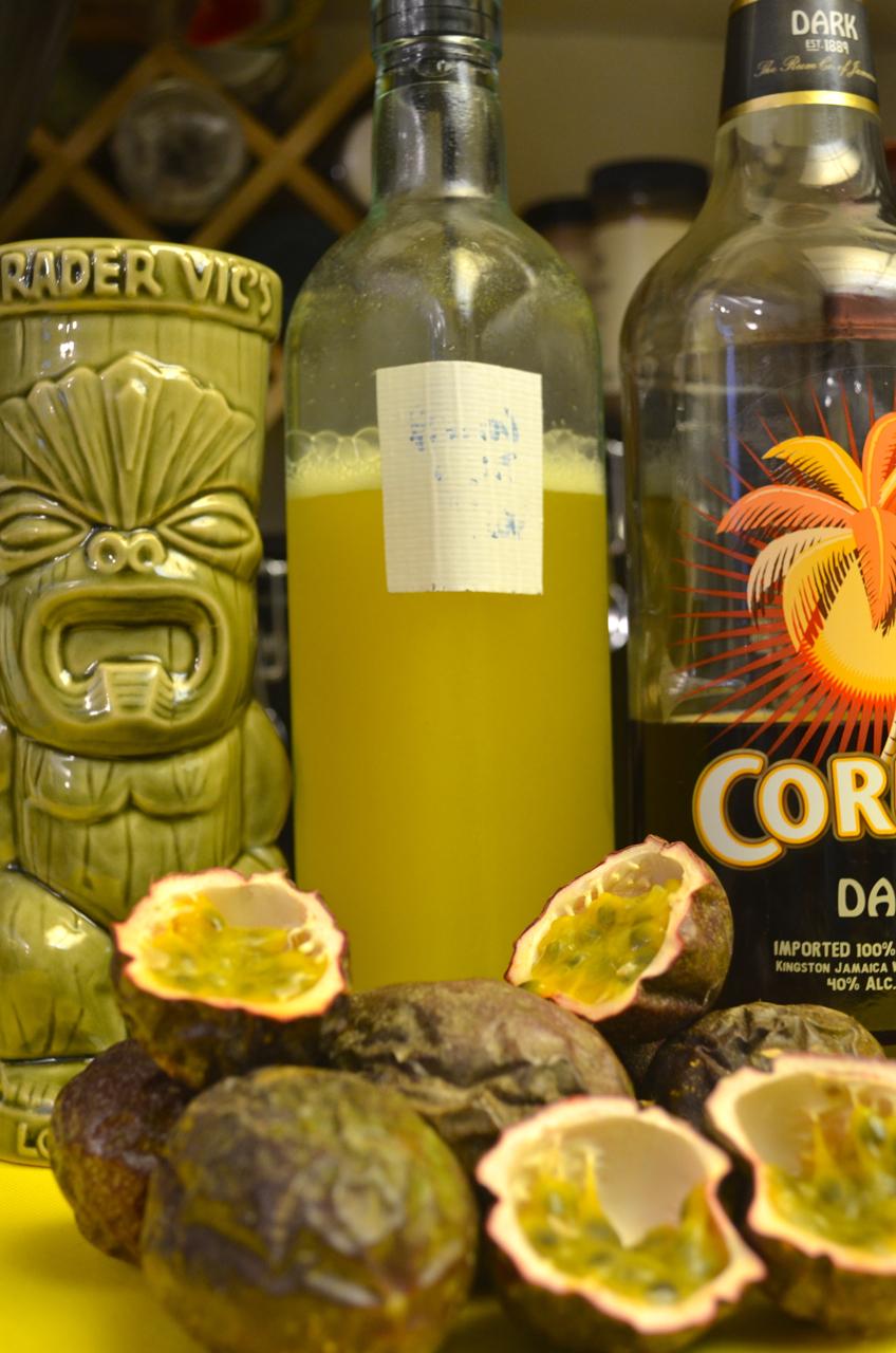 Bottled passion fruit syrup