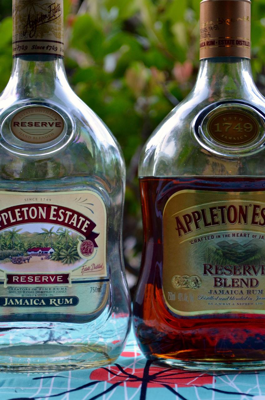 Appleton Reserve: pre-June 2015 label on left, June 2015 label on the right.
