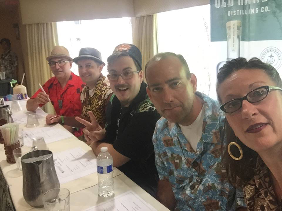Judges (left to right): Otto von Stroheim, Kelley Merrell, Rob Burr, yours truly, and Marie King. Photo by Marie King.