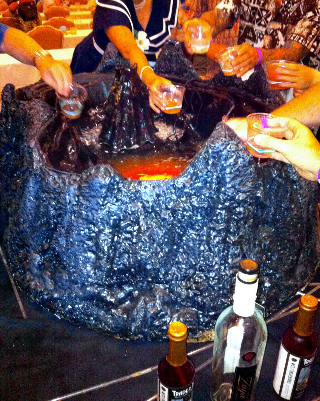 Serving punch from a 40 gallon volcano bowl, as you do.