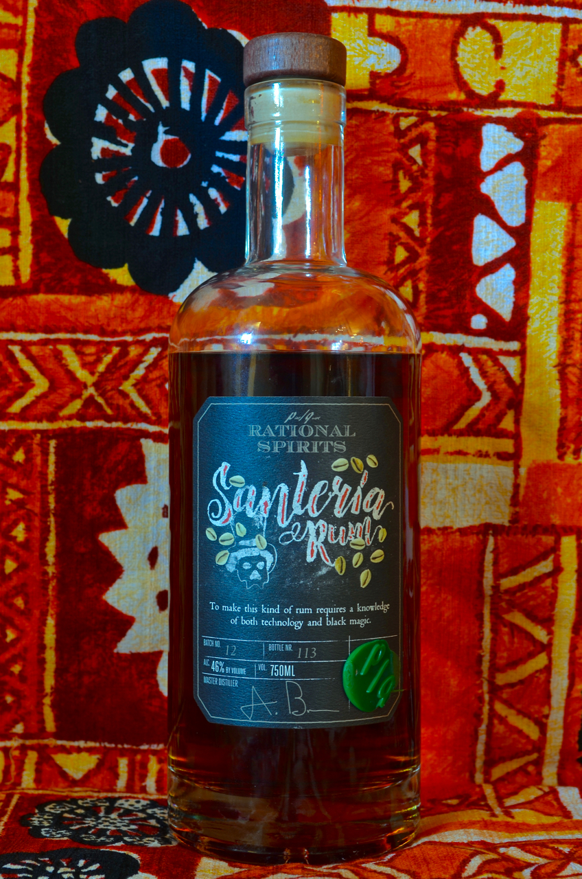 Santeria rum, production bottling (early 2016).