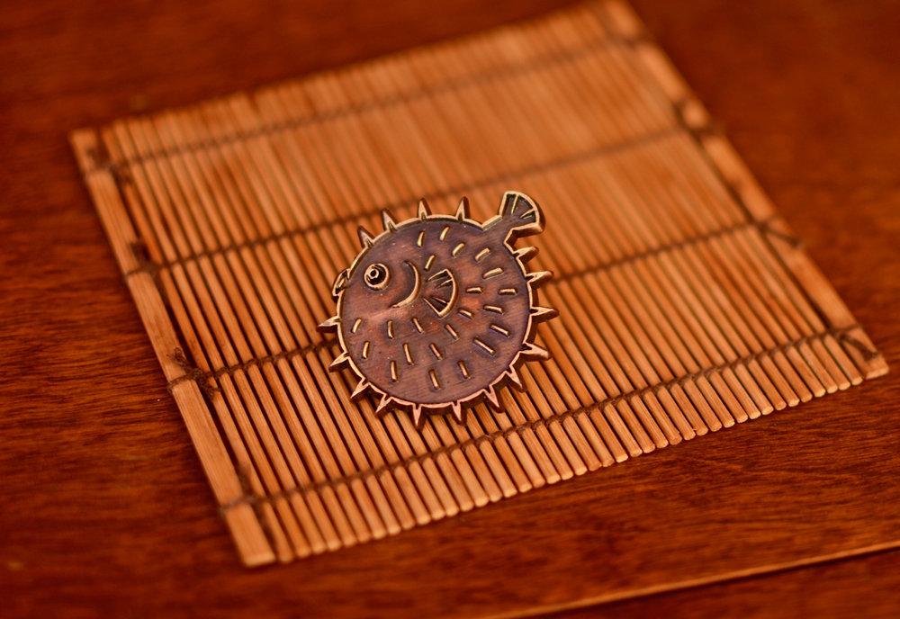 Fugu pin by Grider.