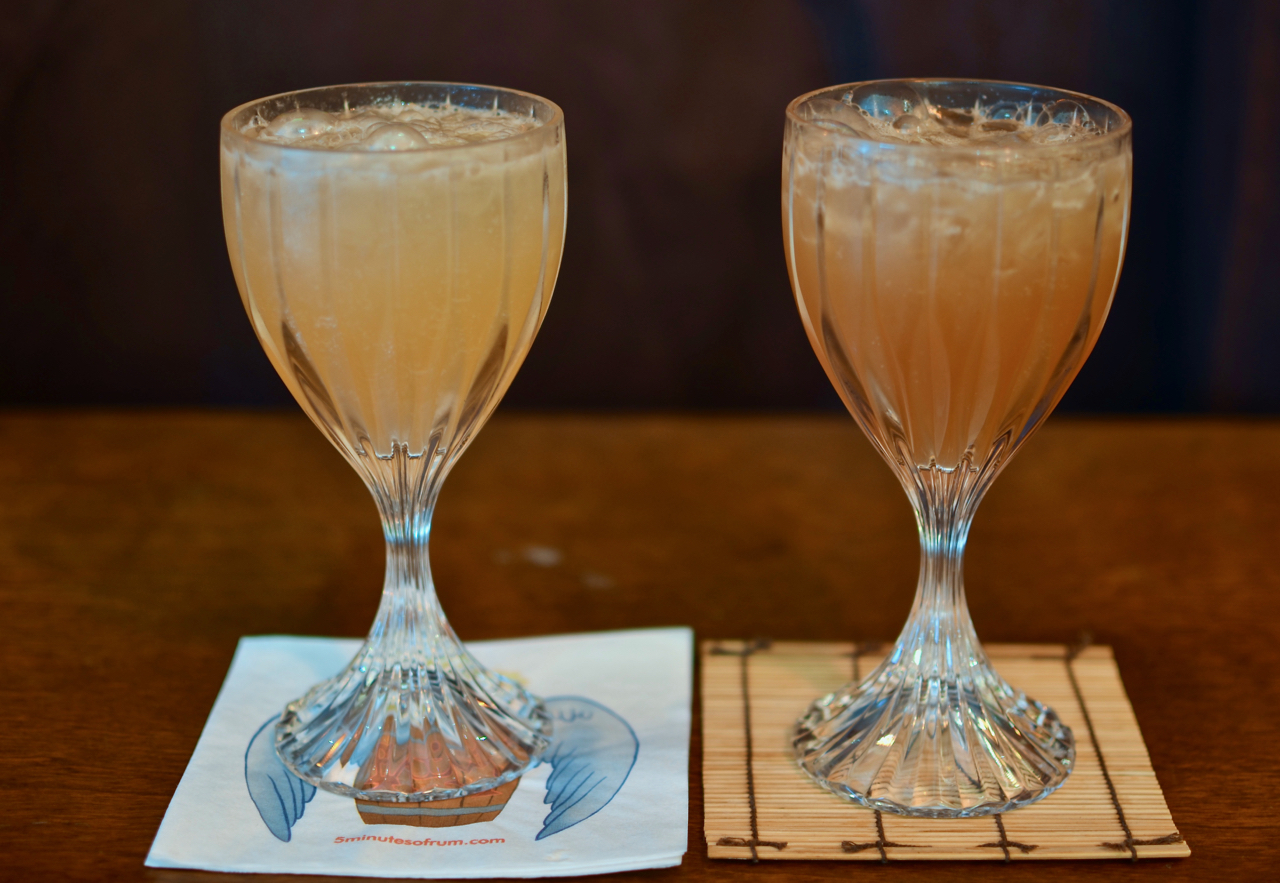 Left: Montego Bay with Hamilton Jamaican Pot Still Gold rum. Right: Montego Bay with Hamilton Jamaican Pot Still Black rum.