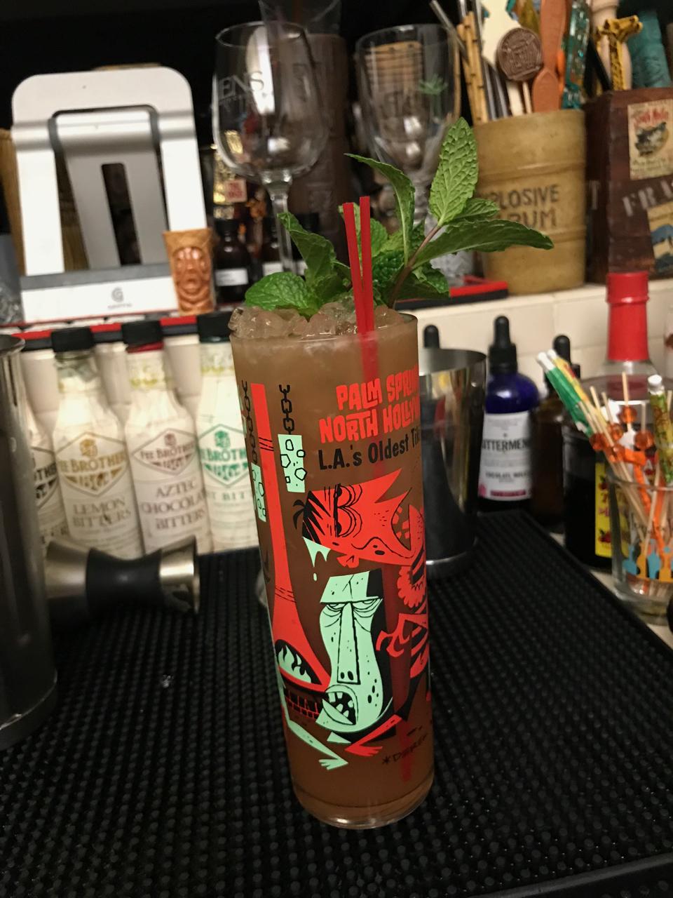 '34 Zombie in 2017 Tonga Hut Zombie glass.