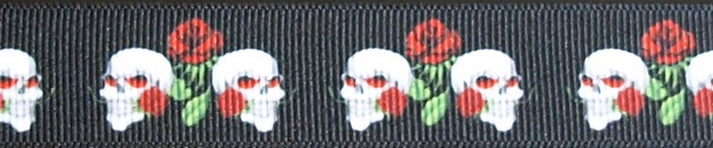 R170-CG 1 Inch Skulls and Roses