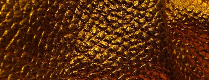 Metallic Orange Leather L45
