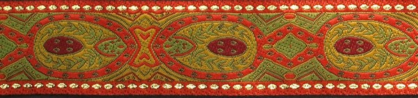 R128 1 1/8 Inch Konta red and olive