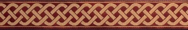 R135 3/4 Inch Burgundy and Tan Celtic Knot