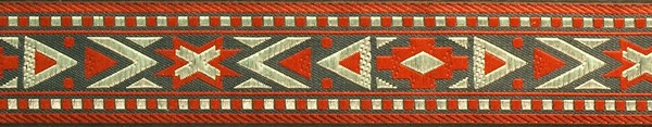 R115 7/8 Inch Red Gray and Tan Southwest