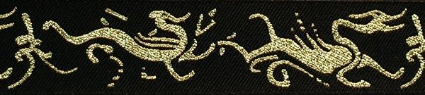 R107 1 Inch Gold Dragons