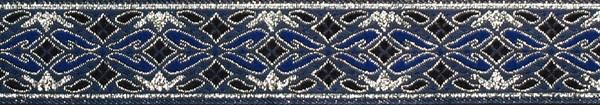 R164 7/8 Inch Silver and Blue Diamonds