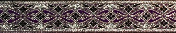 R166 7/8 Inch Silver and Purple Diamonds