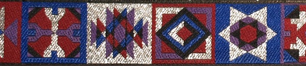 R172 1 Inch Silver Purple and Red Quilt Blocks