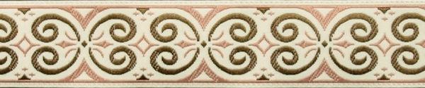 R222 1 Inch Pink Scroll
