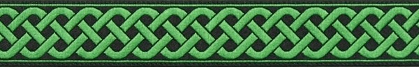R108 3/4 Inch Green Celtic Knot