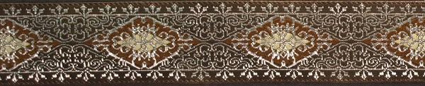 R247 1 Inch Silver Eastern Brown Lace