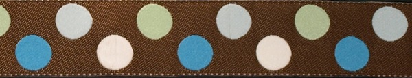 R265 7/8 Inch Dots Mint and Cerulean