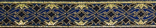 R273 7/8 Inch Gold and Blue Diamonds