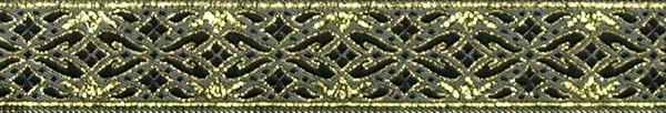R321 7/8 Inch Gold and Black Diamonds