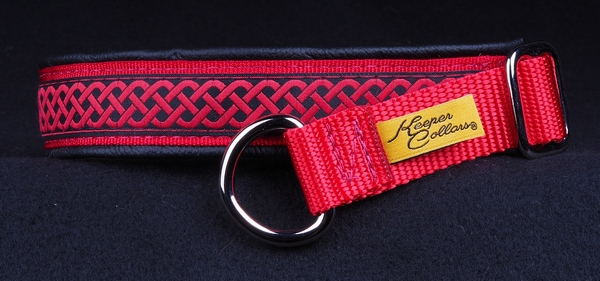 1 In Red Celtic Knot on Red with Black Leather Chrome.jpg