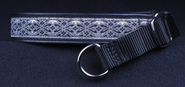 1 In Silver and Gray Diamonds on Black with Black Leather Chrome.jpg