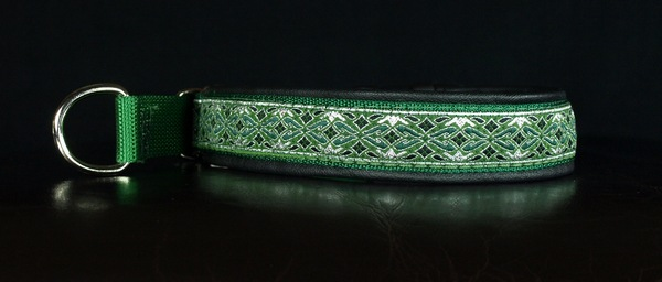 1 In Silver and Green Diamonds on Green with Black Leather.jpg