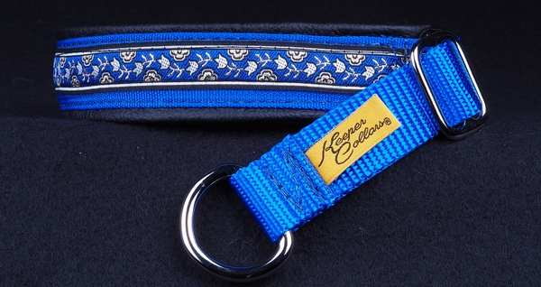 1 In Silver Gold and BlueTulips Royal Blue Web Black Leather Chrome.jpg