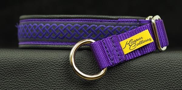 1 In Purple Celtic Knot on Purple Web Black Leather Chrome.jpg