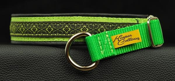 1 In Green Geo on Lime Web Black Leather Chrome.jpg