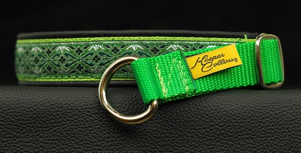 1 in Silver and Green Diamonds on Lime Web Black Leather Chrome.jpg