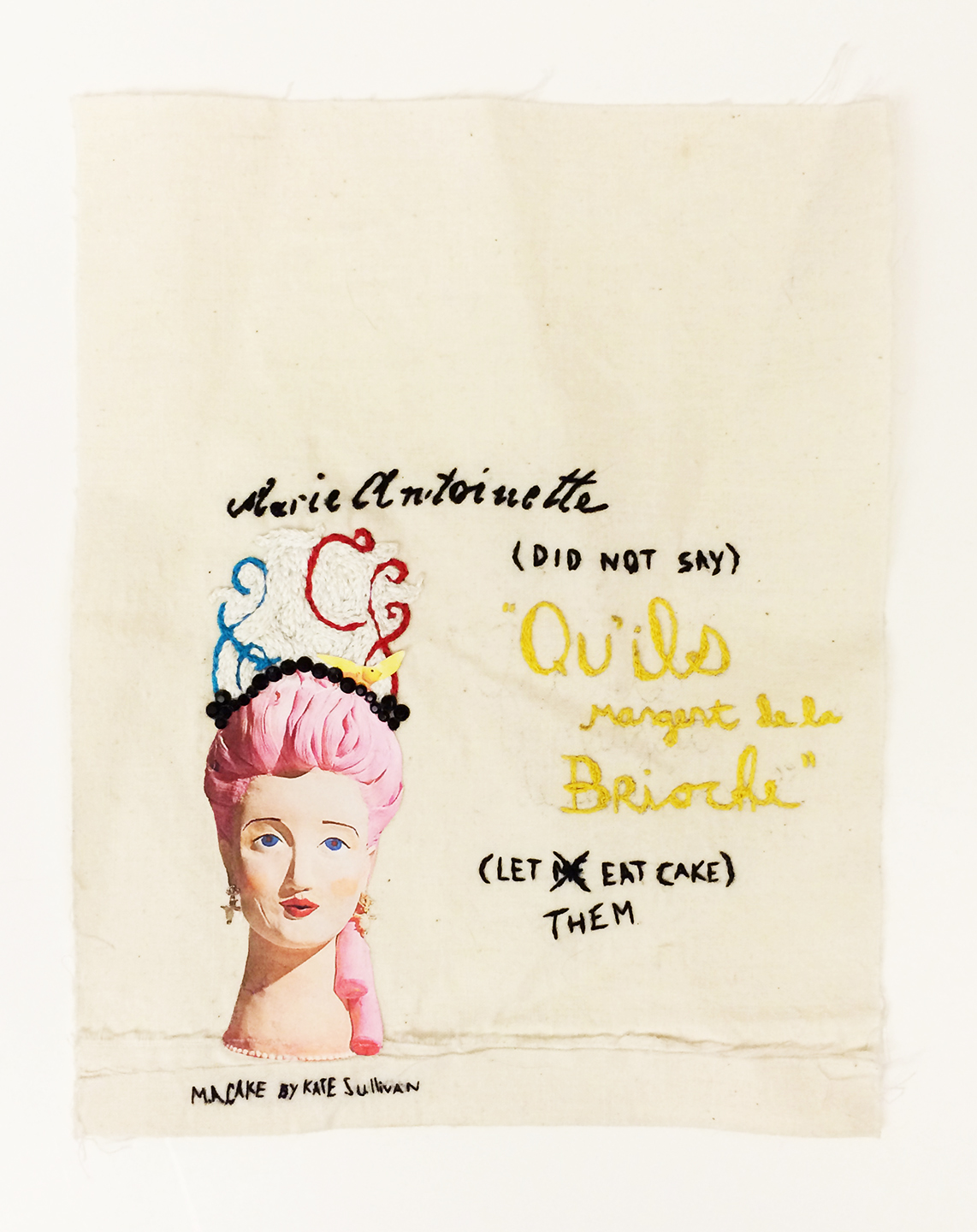 An old embroidery piece of mine featuring a cake by  Kate Sullivan .