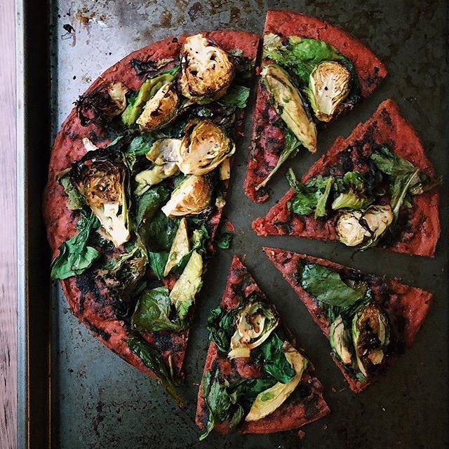 Roasted Brussels Pizza