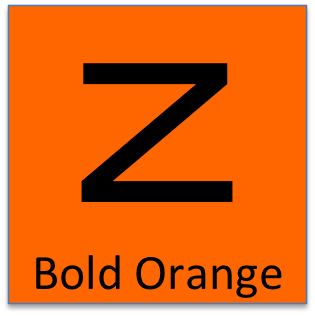 This is your ZUUUM rider badge.  Bold Orange is an black Z on a orange badge.  This is the ZUUUM rating for a very competitive cyclist.  Bold Orange is 750 to 1000 ZUUUM score.