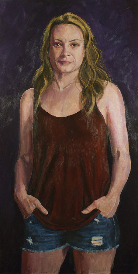 """Laurie  - 24"""" x 48"""", oil on panel"""