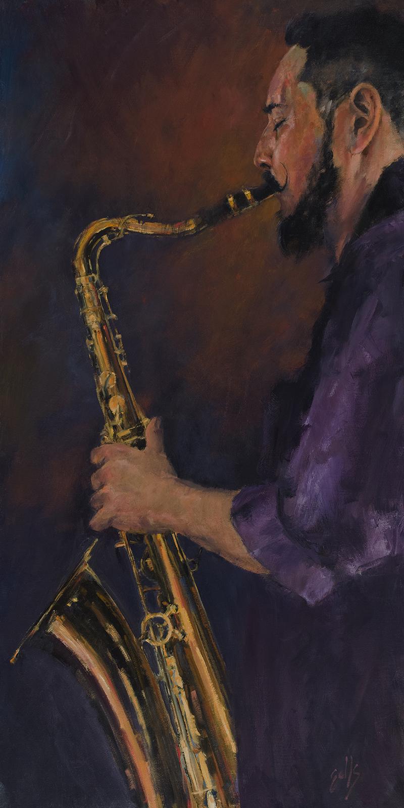 """Rubén  - 24"""" x 48"""", oil on canvas"""