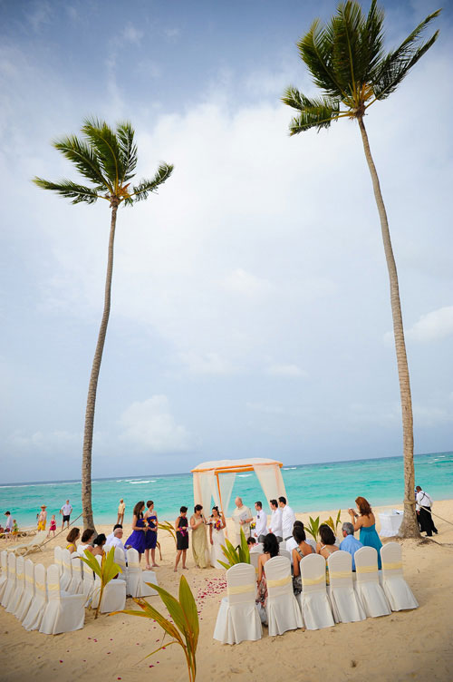 Wedding ceremony at the Majestic Colonial Resort, Punta Cana, Dominican Republic.
