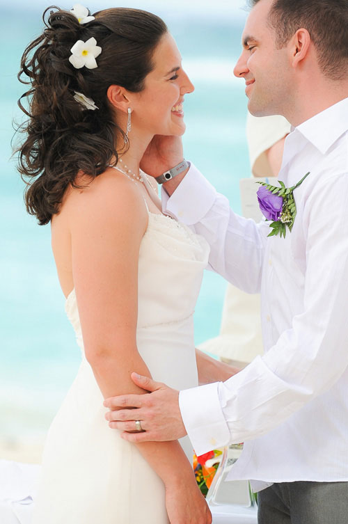 Couple is announced man & wife during their wedding ceremony at the Majestic Colonial Resort, Punta Cana.