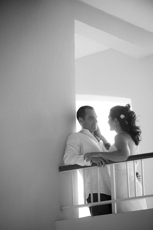 Intimate moment during a designation wedding at the Majestic Colonial Resort, Punta Cana.