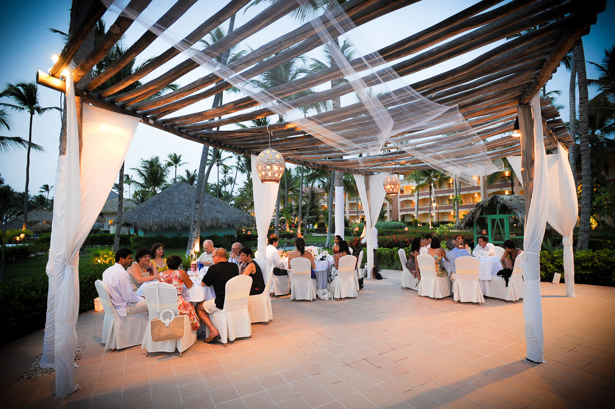 A Majestic Colonial Resort wedding reception.