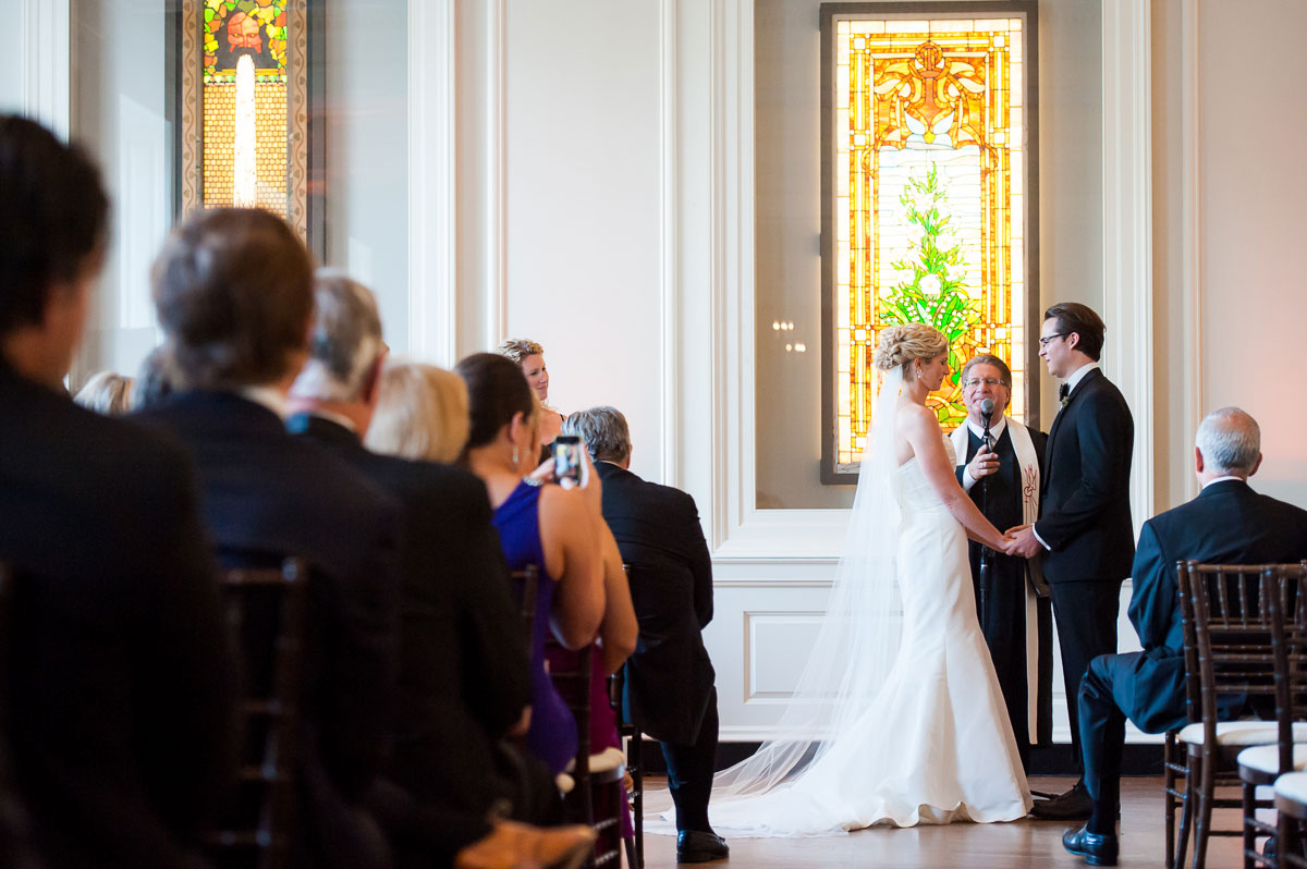 Wedding ceremony at the Chicago History Museum.